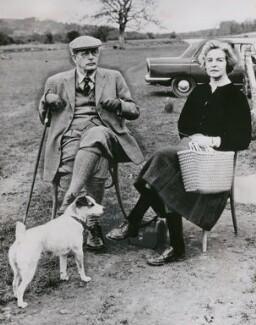 Harold Macmillan, 1st Earl of Stockton; Deborah Vivien Cavendish (née Freeman-Mitford), Duchess of Devonshire, by Unknown photographer - NPG x194016