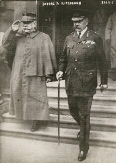 Joseph-Jacques-Césaire Joffre; Herbert Kitchener, 1st Earl Kitchener, by Bain News Service - NPG x194022