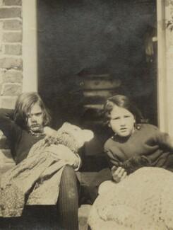 Ursula Margaret Wentzel (née Strachey); Barbara Strachey (Hultin, later Halpern), by Unknown photographer, 1918 - NPG Ax160848 - © National Portrait Gallery, London