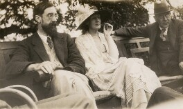 Lytton Strachey; Virginia Woolf; Goldsworthy Lowes Dickinson, by Lady Ottoline Morrell - NPG x141313