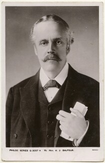 Arthur James Balfour, 1st Earl of Balfour, by Bassano Ltd, published by  Davidson Brothers - NPG x193620