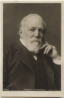 Robert Browning, by Bassano Ltd, published by  Rotary Photographic Co Ltd - NPG x193639