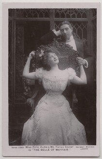 Billie Burke and (Joseph) Farren Soutar in 'The Belle of Mayfair', by Bassano Ltd, published by  Davidson Brothers - NPG x193671