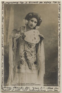 Marie Dainton as Mrs Pineapple in 'A Chinese Honeymoon', by Bassano Ltd, published by  Rotary Photographic Co Ltd - NPG x193712