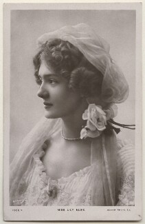 Lily Elsie (Mrs Bullough), by Bassano Ltd, published by  Rotary Photographic Co Ltd - NPG x193810