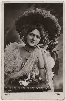 Lily Elsie (Mrs Bullough), by Bassano Ltd, published by  Rapid Photo Co - NPG x193812