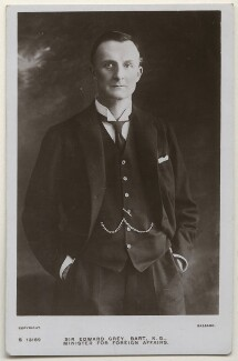 Edward Grey, 1st Viscount Grey of Fallodon, by Bassano Ltd - NPG x193857