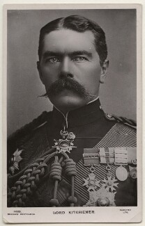Herbert Kitchener, 1st Earl Kitchener, by Alexander Bassano, published by  J. Beagles & Co - NPG x193878