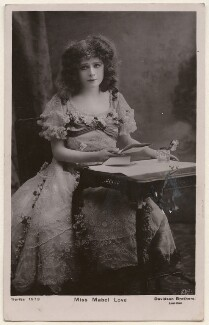 Mabel Love, by Bassano Ltd, published by  Davidson Brothers - NPG x193893