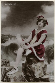 Gabrielle Ray, by Bassano Ltd, published by  Aristophot Co Ltd, 1900s - NPG  - © National Portrait Gallery, London