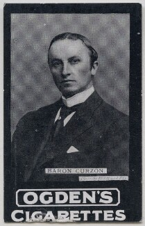 George Nathaniel Curzon, Marquess Curzon of Kedleston, by Elliott & Fry, published by  Ogden's - NPG x197002