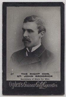 (William) St John Fremantle Brodrick, 1st Earl of Midleton, published by Ogden's - NPG x197003