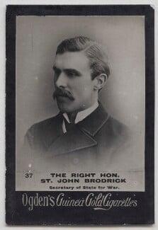 (William) St John Fremantle Brodrick, 1st Earl of Midleton, published by Ogden's - NPG x197003