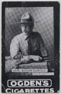 Robert Baden-Powell, by Edward Lyddell Sawyer, published by  Ogden's - NPG x197004
