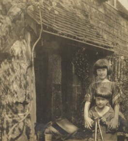 Christopher Strachey; Barbara Strachey (Hultin, later Halpern), by Unknown photographer, 1921 - NPG Ax160867 - © National Portrait Gallery, London
