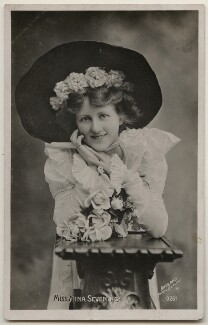 Nina Longstaffe (née Sevening), by Bassano Ltd, published by  The Rotophot Postcard - NPG x198024