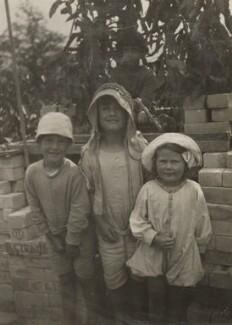 Christopher Strachey; Ann Davies Synge (née Stephen); (Karin) Judith Henderson (née Stephen), by Unknown photographer - NPG Ax160875
