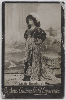 Sarah Bernhardt, by Nadar, published by  Ogden's - NPG x197008