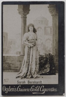 Sarah Bernhardt, by Nadar, published by  Ogden's - NPG x197009