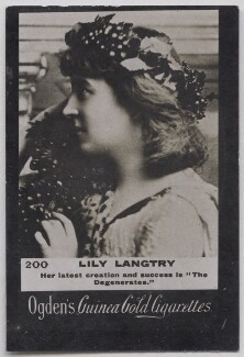 Lillie Langtry, by Lafayette, published by  Ogden's - NPG x197015