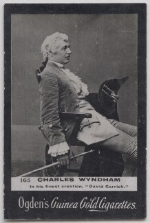 Sir Charles Wyndham (Charles Culverwell) as David Garrick in 'David Garrick', possibly by Barrauds Ltd, published by  Ogden's - NPG x197020