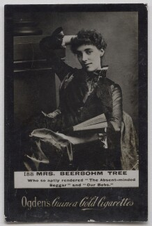Maud (née Holt), Lady Beerbohm Tree, by Alexander Bassano, published by  Ogden's - NPG x197027