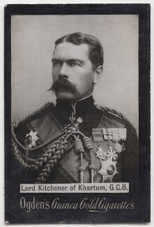 Herbert Kitchener, 1st Earl Kitchener, by Alexander Bassano, published by  Ogden's - NPG x197036