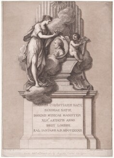 Monument of Johann Christian Bach, by Francesco Bartolozzi, published by and after  Agostino Carlini - NPG D42977