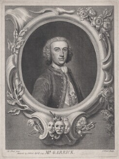 David Garrick, by and published by J. Wood, after  Arthur Pond - NPG D42976