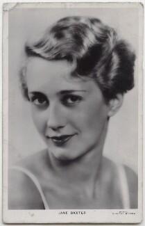 Jane Baxter (Feodora Forde), by Dorothy Wilding - NPG x138180