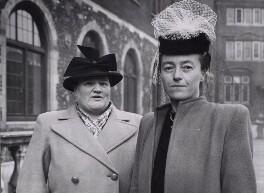 Bessie Braddock; Elaine Frances Burton, Baroness Burton of Coventry, by Jimmy Wilds, for  Keystone Press Agency Ltd - NPG x194053