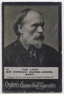 Sir Edward Coley Burne-Jones, 1st Bt, by Alfred James Philpott (Phillpot), for  Elliott & Fry, published by  Ogden's - NPG x197040