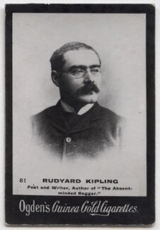 Rudyard Kipling, by Francis Henry Hart, for  Elliott & Fry, published by  Ogden's - NPG x197046