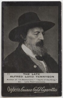Alfred, Lord Tennyson, by Herbert Rose Barraud, published by  Ogden's - NPG x197047