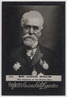 Sir Hiram Stevens Maxim, published by Ogden's - NPG x197051