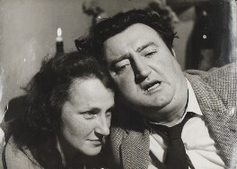 Beatrice Behan (née Ffrench-Salkeld); Brendan Behan, by Ida Kar - NPG x138146