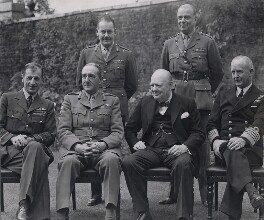 Winston Churchill with Chiefs of Staff, by Planet News - NPG x194065