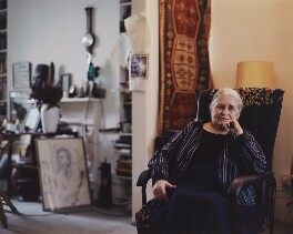 Doris Lessing, by Reme Campos - NPG x138156