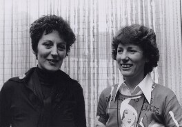 Germaine Greer; Elizabeth Anne Reid, by Keystone Press Agency Ltd - NPG x194094
