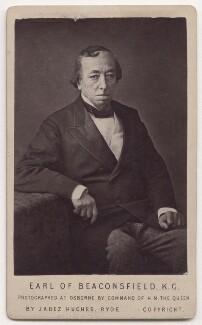 Benjamin Disraeli, Earl of Beaconsfield, by (Cornelius) Jabez Hughes - NPG x197068
