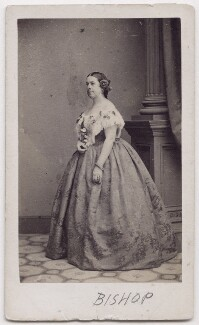 Anna Bishop (née Riviere), by Mathew B. Brady, published by  Edward Anthony - NPG x197071