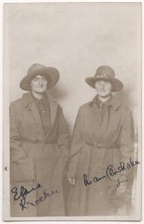 Elsie Knocker (Baroness T'Serclaes); Mairi Chisholm, by Unknown photographer - NPG x194117