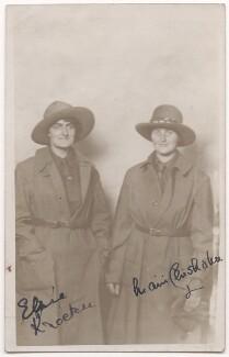 Elsie Knocker; Mairi Chisholm, by Unknown photographer - NPG x194117