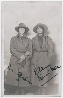 Mairi Chisholm; Elsie Knocker (Baroness T'Serclaes), by Unknown photographer - NPG x194118