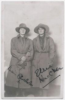 Mairi Chisholm; Elsie Knocker, by Unknown photographer - NPG x194118