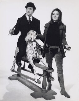 Patrick Macnee as John Steed and Diana Rigg as Emma Peel in 'The Avengers', by Frank Oglesbee - NPG x194135
