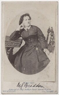 Mary Elizabeth Braddon, by United Association of Photography Limited - NPG x197074
