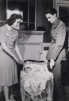 Barbadee Violet (née Knight), Lady Meyer; Carolyn Clare Barbadee Sands (née Meyer); Sir Anthony John Charles Meyer, 3rd Bt, by Tunbridge & Sedgwick - NPG x194139