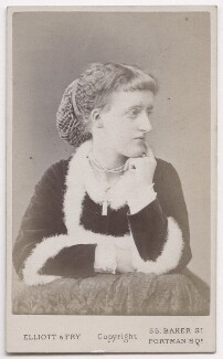 Lady Elisabeth Taylor (née Campbell), by Elliott & Fry - NPG x197083