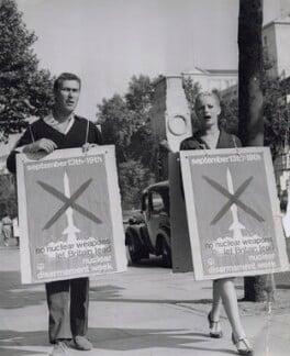 John Osborne; Mary Ure, by P.A. Reuter Photos Ltd - NPG x194155